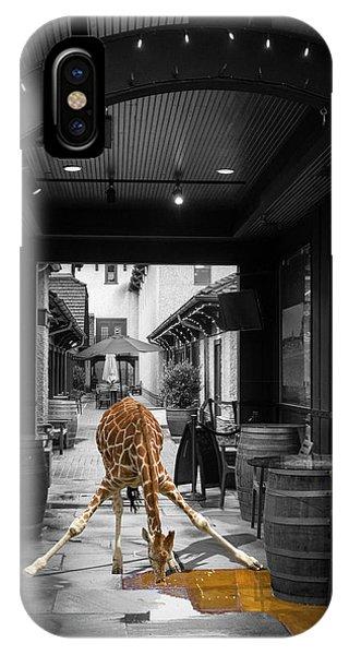 Giraffe Drinking Whiskey Series 4987y IPhone Case