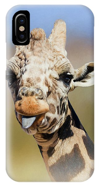 Giraffe Giving The Raspberry IPhone Case