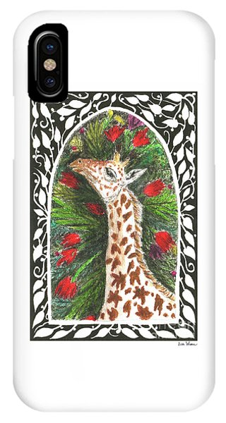 Giraffe In Archway IPhone Case