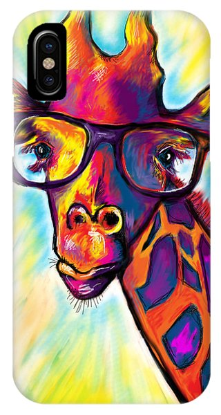 Giraffe iPhone Case - Giraffe by Julianne Black DiBlasi