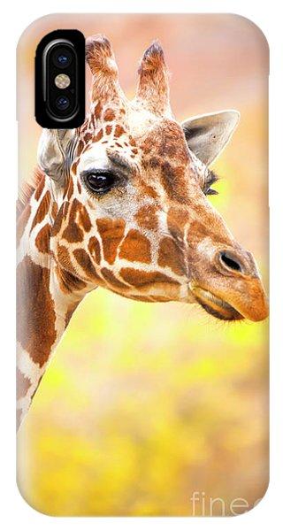 IPhone Case featuring the photograph Giraffe, Animal Decor, Nursery Decor,  by David Millenheft