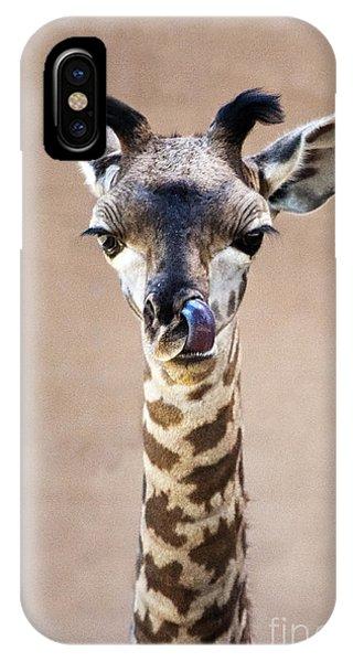 Giraffe Lick IPhone Case