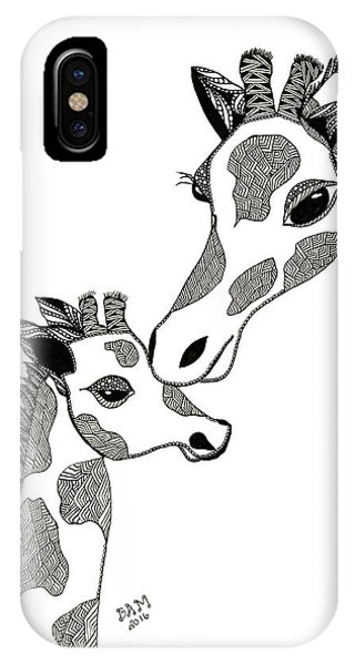 Giraffe Mom And Baby IPhone Case