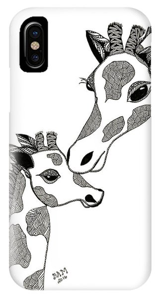 Giraffe Mom And Baby IPhone Case