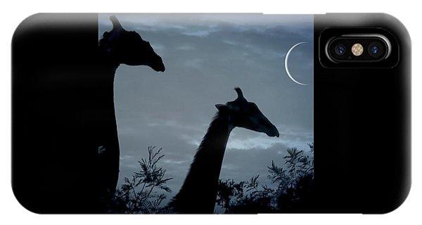 Giraffe Moon  IPhone Case