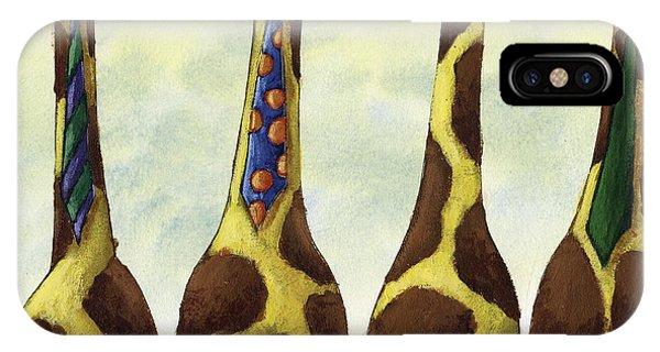 Giraffe iPhone Case - Giraffe Neckties by Christy Beckwith