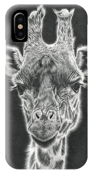 Giraffe Pencil Drawing IPhone Case