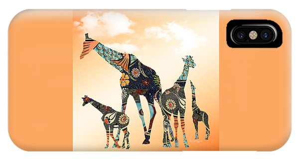 Giraffe Stroll IPhone Case