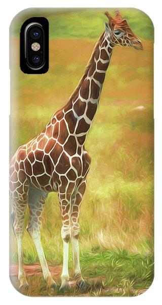 Grace iPhone X Case - Giraffe by Tom Mc Nemar