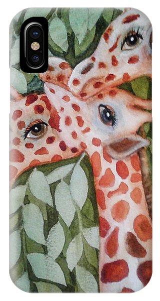 Giraffe Trio By Christine Lites IPhone Case