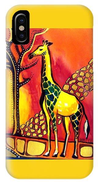 Giraffe With Fire  IPhone Case