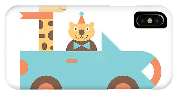 Animal Car Pool IPhone Case