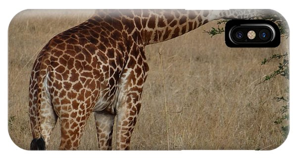 Giraffes Eating - Side View IPhone Case