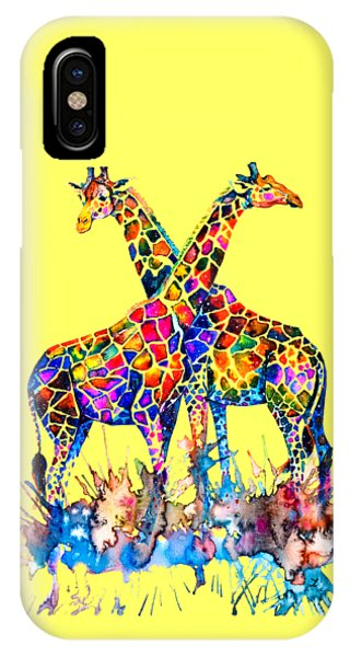 Giraffe iPhone Case - Giraffes by Zaira Dzhaubaeva