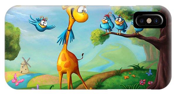 Colorful Bird iPhone Case - Giraffraf by Tooshtoosh