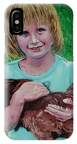 Girl And Chicken IPhone Case