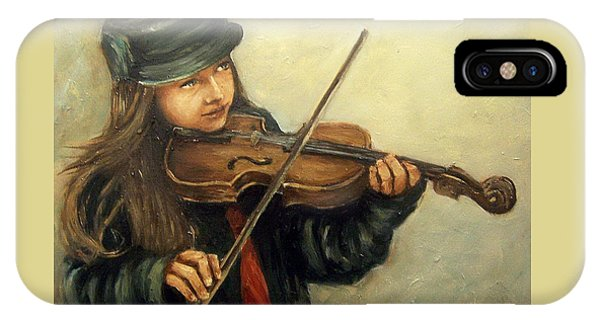Girl And Her Violin IPhone Case