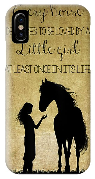 Girl And Horse Silhouette IPhone Case