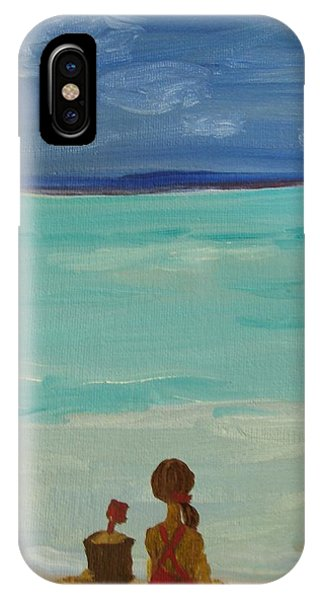 Girl And The Beach IPhone Case