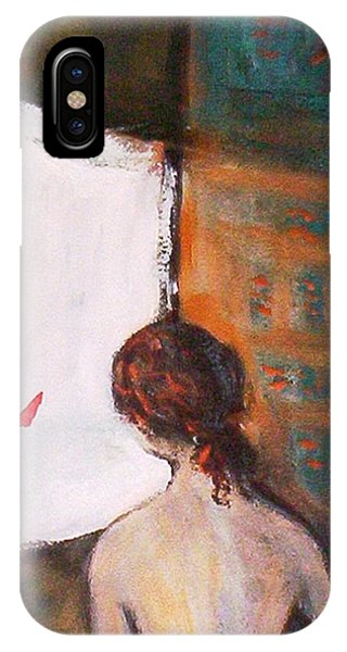 Girl At The Window IPhone Case