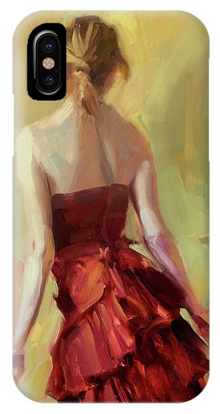 Elegant iPhone Case - Girl In A Copper Dress I by Steve Henderson