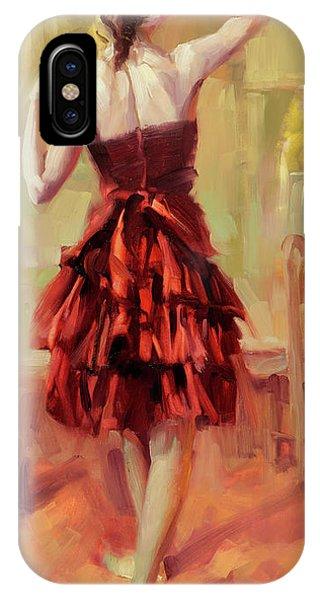 19th Century iPhone Case - Girl In A Copper Dress IIi by Steve Henderson