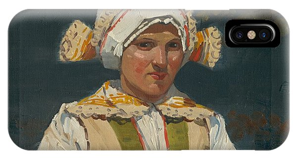 Girl In Costume, Antos Frolka, 1910 IPhone Case