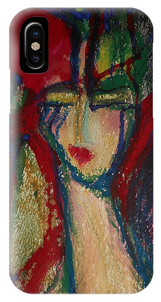 Girl In Darkness IPhone Case