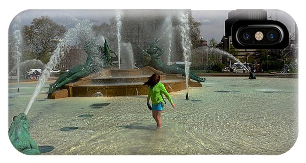 Girl In Fountain IPhone Case
