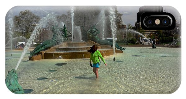 Girl In Fountain IPhone Case