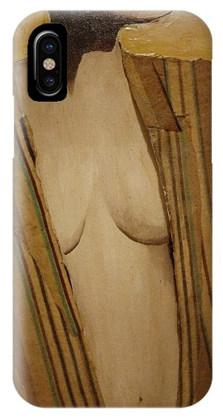 Girl In Man's Shirt IPhone Case