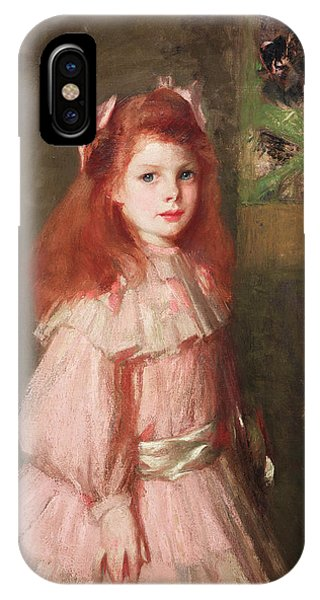 Girls In Pink iPhone Case - Girl In Pink by George Henry