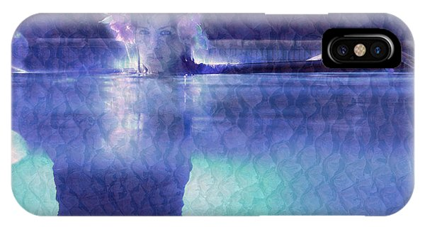 Girl In Pool At Night IPhone Case