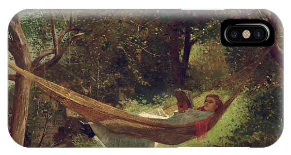 Girls iPhone Case - Girl In The Hammock by Winslow Homer