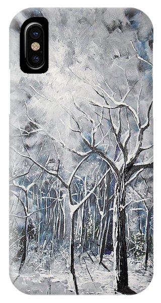 Girl In The Woods IPhone Case