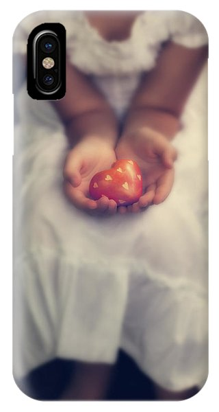 Girl Is Holding A Heart IPhone Case