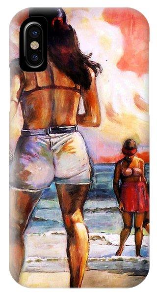 Girl On The Beach IPhone Case