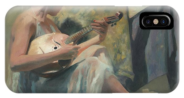 iPhone Case - Girl Playing Domra  by Denis Chernov