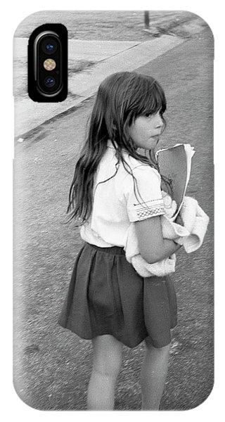 Girl Returns Home From School, 1971 IPhone Case