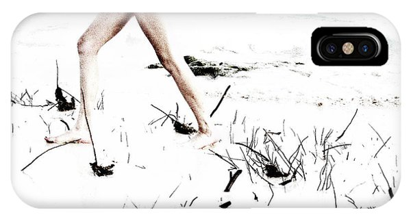 Girl Walking On Beach IPhone Case