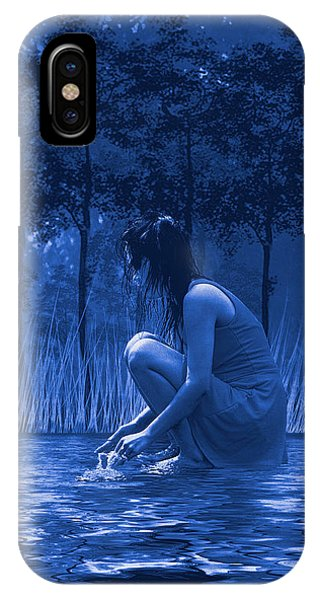 Girl Washing At The River IPhone Case