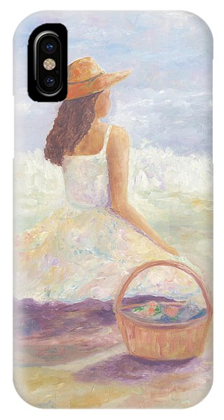 Girl With A Basket IPhone Case