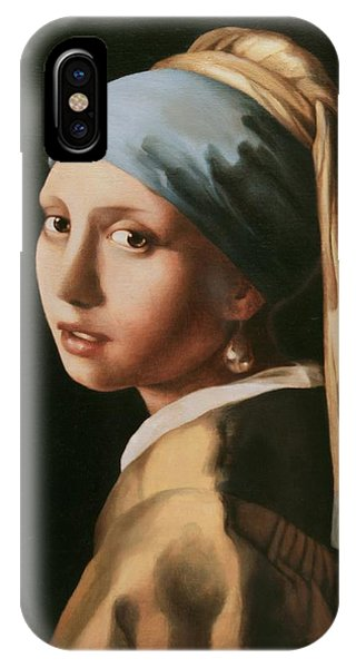 Girl With A Pearl Earring - After Vermeer IPhone Case