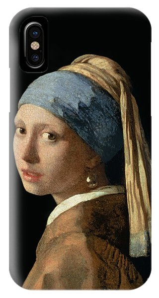 Portraits iPhone X Case - Girl With A Pearl Earring by Jan Vermeer