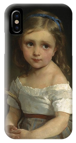 French Painter iPhone Case - Girl With Basket Of Plums by Emile Munier