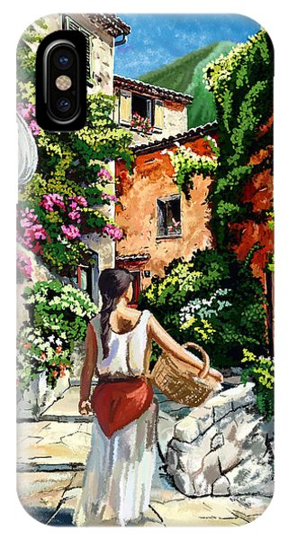 Girl With Basket On A Greek Island IPhone Case