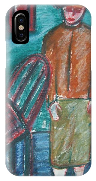 Girl With Chair IPhone Case