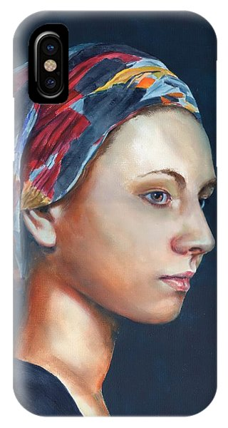 Girl With Headscarf IPhone Case