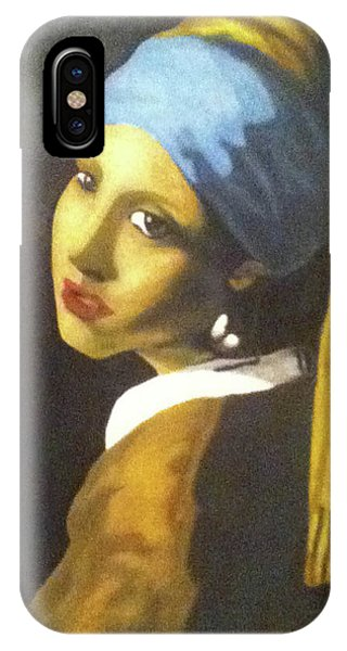 IPhone Case featuring the painting Girl With Pearl Earring by Jayvon Thomas