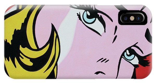 Girl With Ribbon IPhone Case